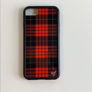 Red plaid I phone 6/7/8 case from wildflower